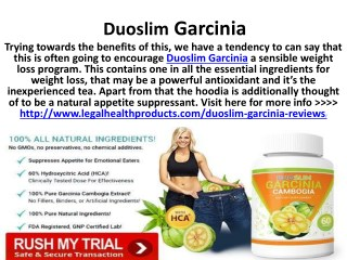 Duoslim Garcinia Where to Buy and Free Trial