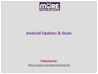 Android Updates & Deals