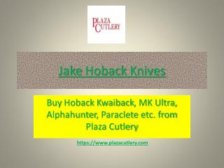 Jake Hoback Knives