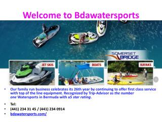 Kayaks , Jet Skis at Somerset Bridge Watersports