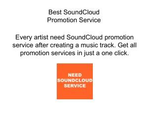 PPT - Best SoundCloud Promotion Service PowerPoint Presentation - ID
