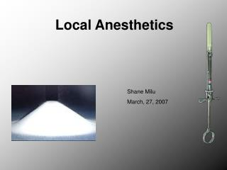 Local Anesthetics