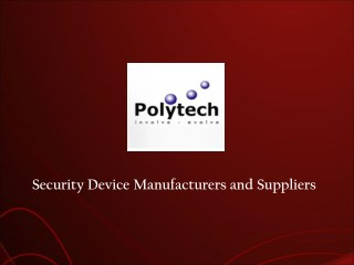 Security Products Manufacturers