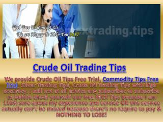 Get Online Commodity Trading Advice from Free MCX Trading Tips