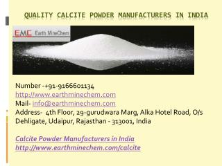 Quality Calcite Powder Manufacturers in India