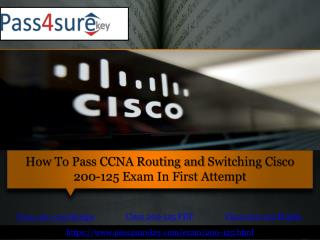 Latest Cisco 200-125 Dumps | Pass4surekey