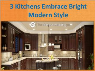 3 Kitchens Embrace Bright Modern Style