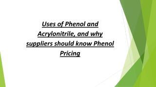 Phenol Pricing