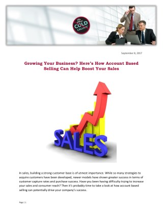 Growing Your Business? Here's How Account Based Selling Can Help Boost Your Sales