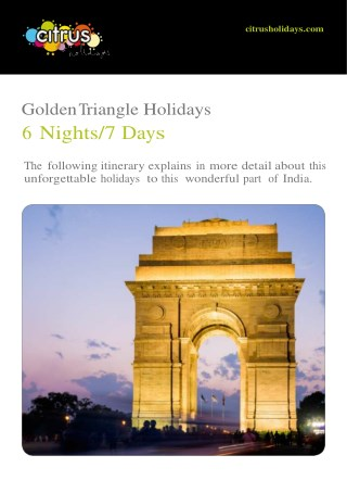 Golden Triangle Holidays