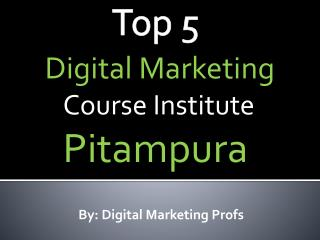 Top 5 Digital Marketing Course Institutes Pitampura New Delhi | Digital Marketing Profs
