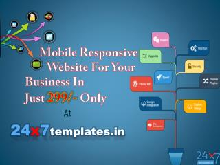 Mobile Responsive static website for your business in just 299/-