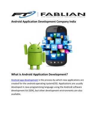Android application-development-company-india