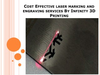 Cost Effective laser marking and engraving services By