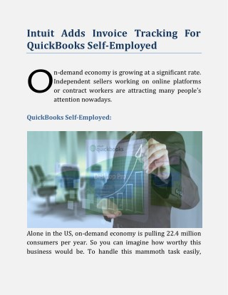 Intuit Adds Invoice Tracking For QuickBooks Self-Employed
