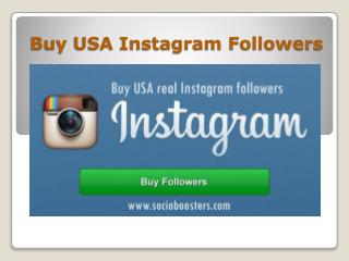 Buy USA Instagram Followers