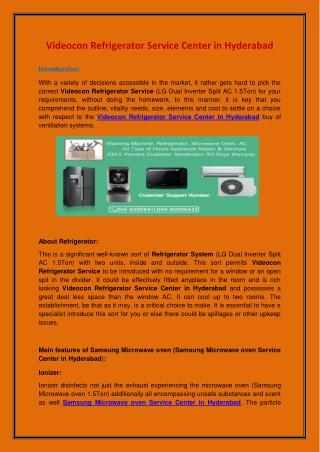 Videocon Refrigerator Service Center in Hyderabad