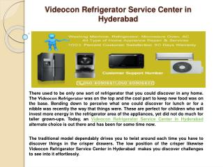 Videocon Refrigerator Service Center in Hyderabad