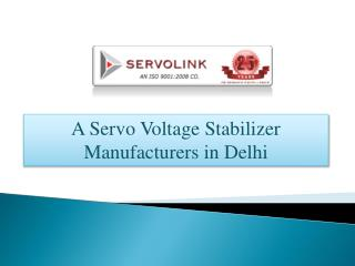 Servo Voltage Stabilizer Manufacturers - R. D. Electric Works