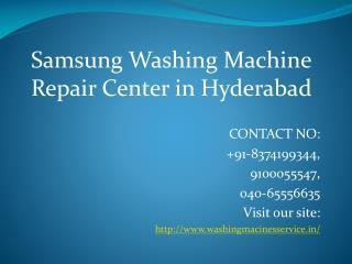 Samsung Washing Machine Repair Center in Hyderabad