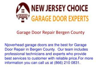 Garage Door Repair Bergen County