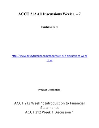 ACCT 212 All Discussions Week 1 – 7