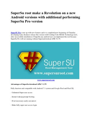 SuperSU Root, Syetemless Root Android Latest Versions