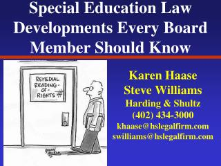 Special Education Law Developments Every Board Member Should Know