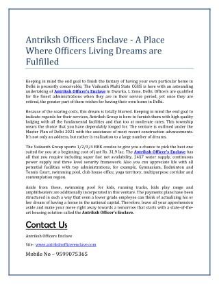 Antriksh Officers Enclave