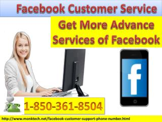 Gain Facebook Customer Service 1-850-361-8504 to improved Facebook Security