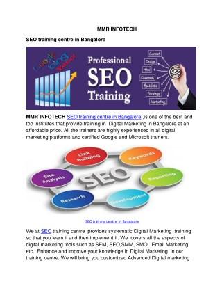 SEO training centre  in Bangalore
