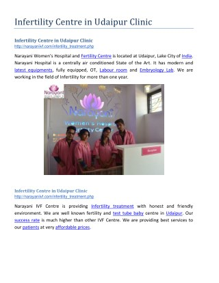 Infertility Centre in Udaipur Clinic