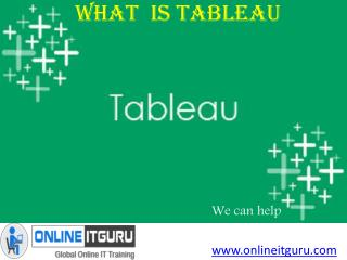 Boost your career with Tableau Online course India