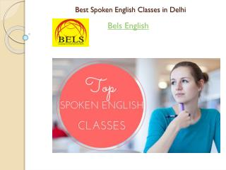 Best Spoken English Classes in Delhi-Bels English