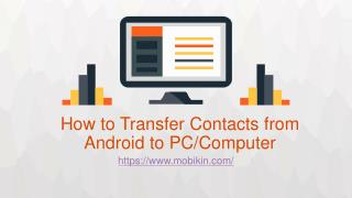 How to Transfer Contacts from Android to PC/Computer