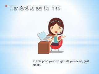 The Best Pinoy for Hire Virtual Assistant