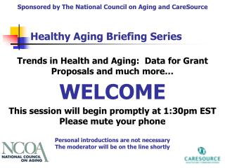 Trends in Health and Aging: Data for Grant Proposals and much more…