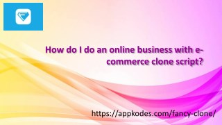 How to make E-commerce website clone with appkodes