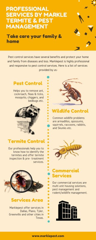 Professional Services by Markle Termite & Pest Management