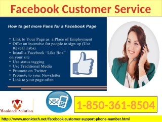 The Ways Which Can Help To Gain Facebook Customer Service 1-850-361-8504