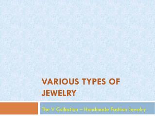Various type of beautiful Jewelry for women by The V Collection
