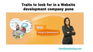 Traits to look for in a Website development company pune | Hnwebmarketing