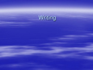 Writing as Therapy: