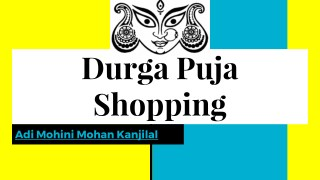 Durga Puja Saree Shopping