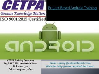 Project based Android training