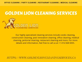 Affordable Office Cleaning Services In Toronto By Golden Lion Cleaning Services
