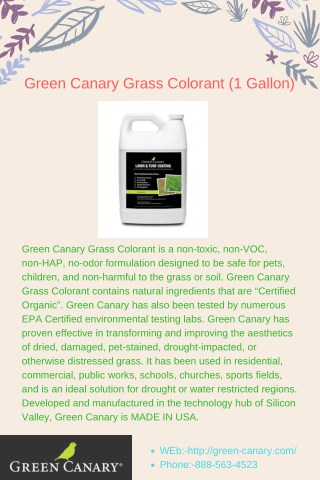 Green Canary Grass Colorant (1 Gallon)