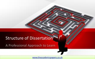 Dissertation Structure - A Professional Approach to Learn