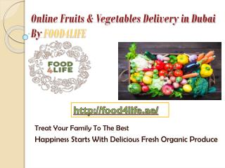 Fresh Organic Fruits and Vegetables Delivery Service