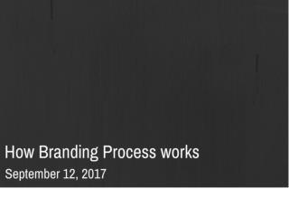How Branding Process Works | Newton Consulting